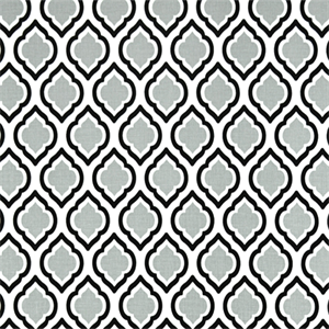 Curtis Cool Grey Moroccan Tile Drapery Fabric By Premier
