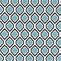 Curtis Regatta Blue Moroccan Tile Drapery Fabric by Premier Prints