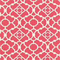 Lovely Lattice Blossom Pink Geometric Drapery Fabric by Waverly