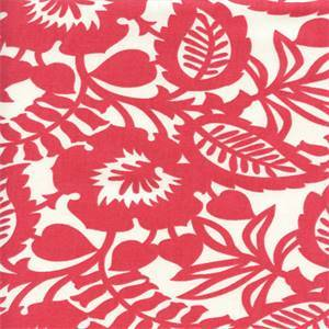 Esmee Flamingo Pink Cotton Floral Drapery Fabric by Waverly