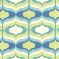 Hourglass Seaglass Blue Hourglass Print Cotton Drapery Fabric