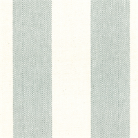 Chatham Stripe Spa Blue and Tan Herringbone Stripe Upholstery Fabric by Roth and Tompkins Swatch