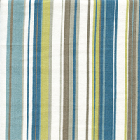 Victoria Stripe Aqua Blue and Green Stripe Upholstery Fabric by Roth and Tompkins Swatch