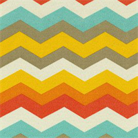 Panama Weave Sunset Yellow Chevron Outdoor Fabric by Waverly