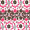 Rio Preppy Pink Floral Ikat Indoor/Outdoor Print by Premier Prints Swatch