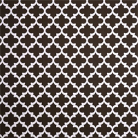 Outdoor Fynn Bay Brown Geometric Fabric by Premier Prints