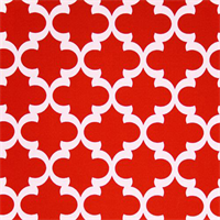 Outdoor Fynn Rojo Red Geometric Print by Premier Prints