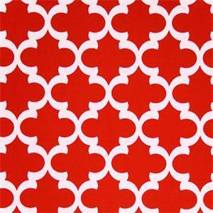 Outdoor Fynn Rojo Red Geometric Print by Premier Prints 30 Yard Bolt