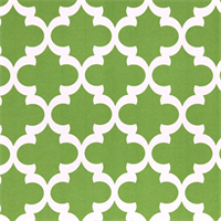 Outdoor Fynn Bay Green Geometric Print by Premier Prints