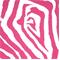 Zebra Preppy Pink Indoor/Outdoor Print by Premier Prints Swatch
