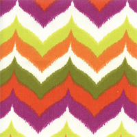 Glamis Terrace Citron Green Ikat Chevron Outdoor Fabric by Swavelle Mill Creek Swatch