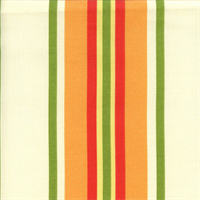 Trudy Terrace Mandarin Orange Stripe Outdoor Fabric by Swavelle Mill Creek