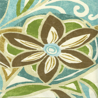 Cutler Terrace Surf Blue Floral Outdoor Fabric by Swavelle Mill Creek Swatch