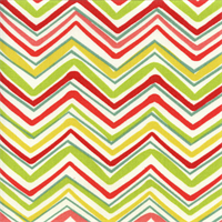 Forssa Terrace Sunshine Green Red Yellow Chevron Outdoor Fabric by Swavelle Mill Creek Swatch