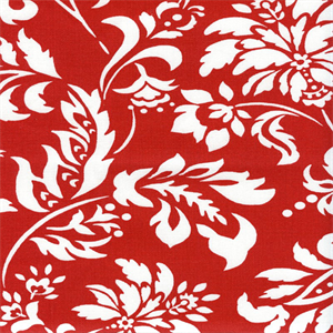 Wexford Terrace Berry Red Floral Outdoor Fabric By
