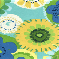 Crosby Terrace Aqua Blue Floral Outdoor Fabric by Swavelle Mill Creek Swatch