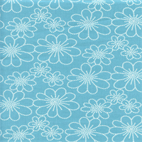 Asturias Panorama Aquarius Blue Floral Drapery Fabric by Swavelle Mill Creek Swatch