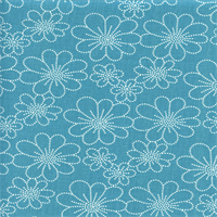 Asturias Panorama Bluebird Blue Floral Drapery Fabric by Swavelle Mill Creek Swatch