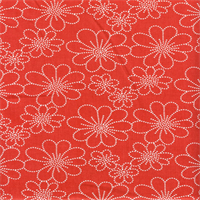 Asturias Panorama Geranium Red Floral Drapery Fabric by Swavelle Mill Creek Swatch