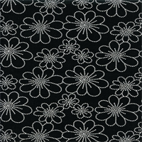 Asturias Panorama Tuxedo Black Floral Drapery Fabric by Swavelle Mill Creek Swatch