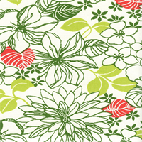 Elsinore Panorama Palmetto Green Floral Drapery Fabric by Swavelle Mill Creek Swatch