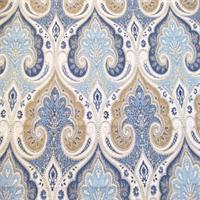 Kravet Latika Delta Blue Linen Drapery Fabric