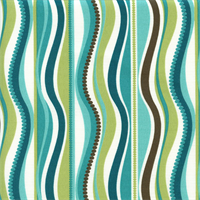 OD Wave Peacock Blue Contemporary Outdoor Fabric