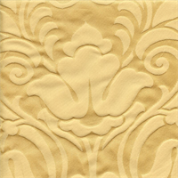 Majorette Honey Gold Floral Faux Silk Drapery Fabric by P Kaufmann