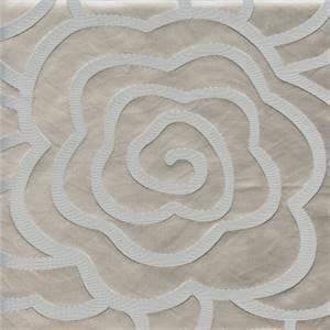 Rolls Royce Silver Floral Faux Silk Drapery Fabric