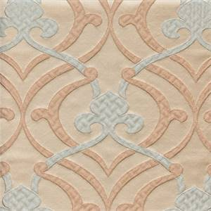 Provincial Powder Blue Fleur De Lis Faux Silk Drapery Fabric