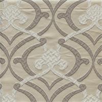 Provincial Silver Fleur De Lis Faux Silk Drapery Fabric