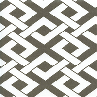 Boxed In Brindle Grey Contemporary Outdoor Fabric Swatch