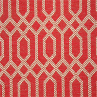 Parquet Scarlet Geometric Upholstery Fabric Swatch