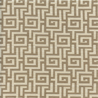 Veria Greek Key Linen Grey Upholstery Fabric Swatch