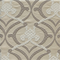 Provincial Silver Fleur De Lis Faux Silk Drapery Fabric Swatch