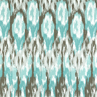 Ikat Craze Spirit Blue Cotton Slub Drapery Fabric by Premier Prints