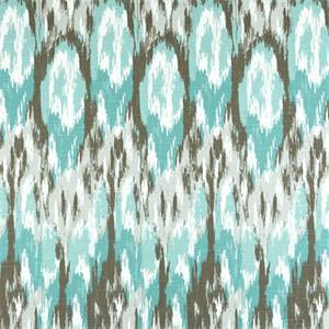 Ikat Craze Spirit Blue Cotton Slub Drapery Fabric by Premier Prints 30 Yard Bolt