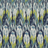 Ikat Craze Frost Birch Cotton Drapery Fabric by Premier Prints