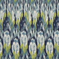 Ikat Craze Frost Birch Cotton Drapery Fabric by Premier Prints