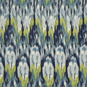 Ikat Craze Frost Birch Cotton Drapery Fabric by Premier Print 30Yard Bolt