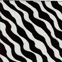 Zebra Stripe Black White Chenille Upholstery Fabric Swatch