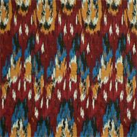 Ikat Craze Poppy Birch Cotton Drapery Fabric by Premier Prints