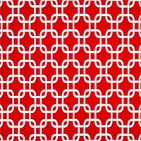 Gotcha Rojo Red Geometric Indoor Outdoor Fabric by Premier Prints