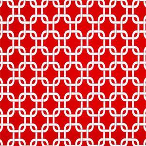 Gotcha Rojo Red Geometric Indoor Outdoor Fabric by Premier Prints 30 Yard Bolt