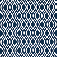 Nicole Oxford Blue Ornament Design Outdoor Fabric by Premier Prints