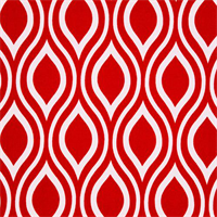 Nicole Rojo Red Outdoor Fabric by Premier Prints