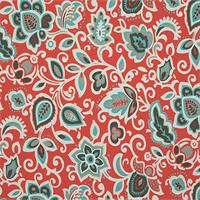 Faxon Calypso Orange Floral Outdoor Fabric by Premier Prints