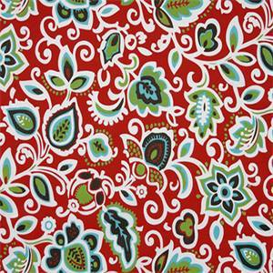 Faxon Rojo Red Floral Outdoor Fabric by Premier Prints 30 Yard Bolt
