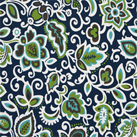 Faxon Oxford Blue Floral Outdoor Fabric by Premier Prints - 12 Yard Bolt