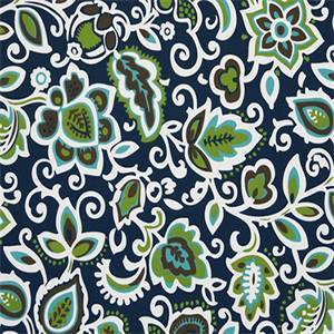 Faxon Oxford Blue Floral Outdoor Fabric by Premier Prints 30 Yard Bolt